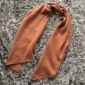 Anthropology winter scarf orange brown soft warm